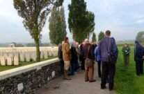 The group at Tyne Cot Cemetery – Ypres Battlefield Tour