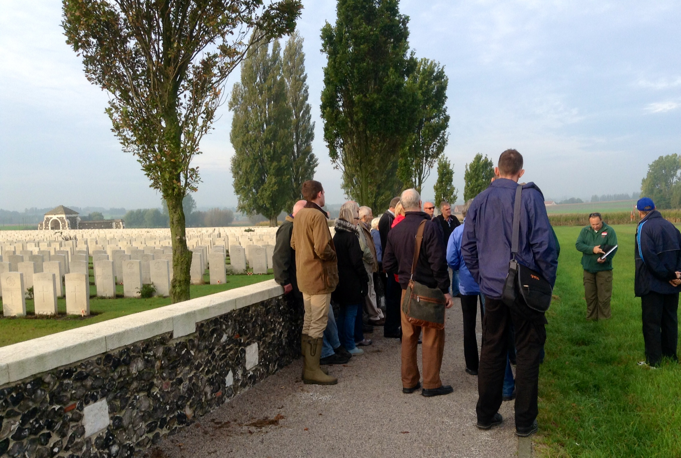 03 The group at Tyne Cot Cemetery