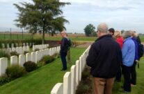 Final personal visit for a member of our group, this time to Potijze Chateau Lawn and Grounds Cemeteries – Ypres Battlefield Tour