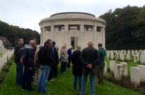 The group at the Plugstreet Memorial to the Missing – Ypres Battlefield Tour