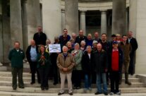 Our traditional group shot at the Plugstreet Memorial to the Missing – Ypres Battlefield Tour