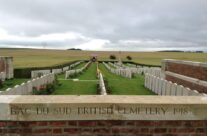 A visit to Bac-du-Sud Cemetery, Bailleulval for Charles to visit his Uncle's grave – Somme Battlefield Tour