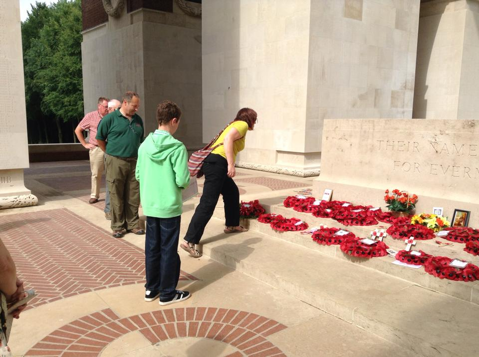 10 The first pilgramage at Thiepval Memorial for Evelyn and her son Gareth to remember her Great Uncle who has no known grave