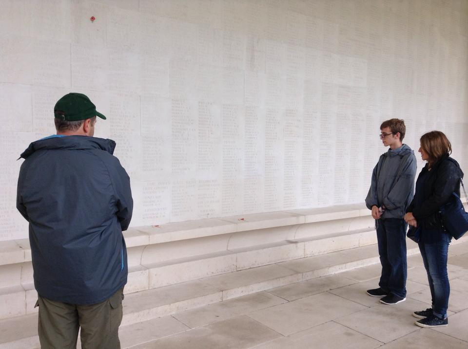 20 Fran's Great Grandad's name is on the Arras Memorial and we took her and son James there. They were visiting from Virginia in the US