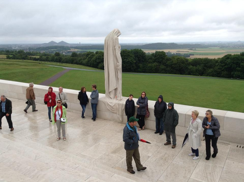 23 Our group at a rather rainy Vimy Ridge Memorial