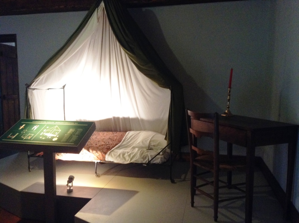 07 Napoleon's Campaign Bed on display in Le Caillou