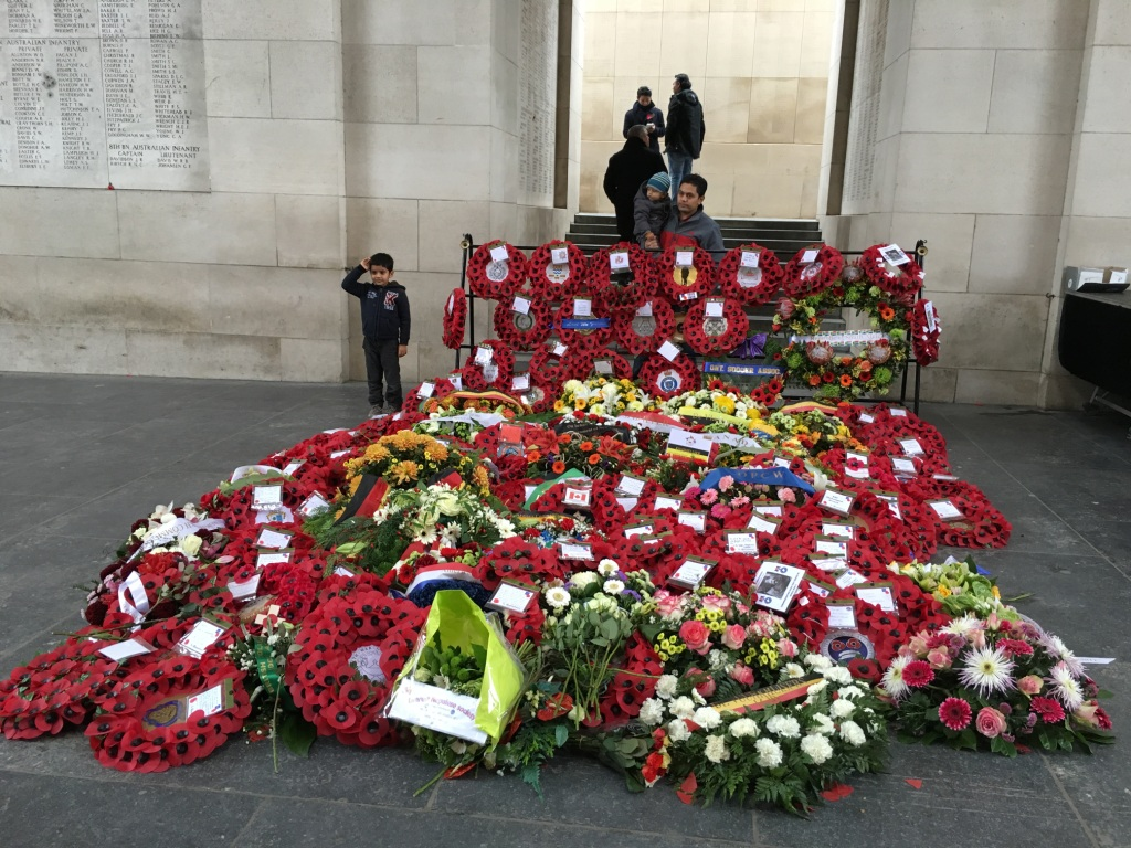 08 The wreaths under the Menin Gate after the Remembrance Ceremony