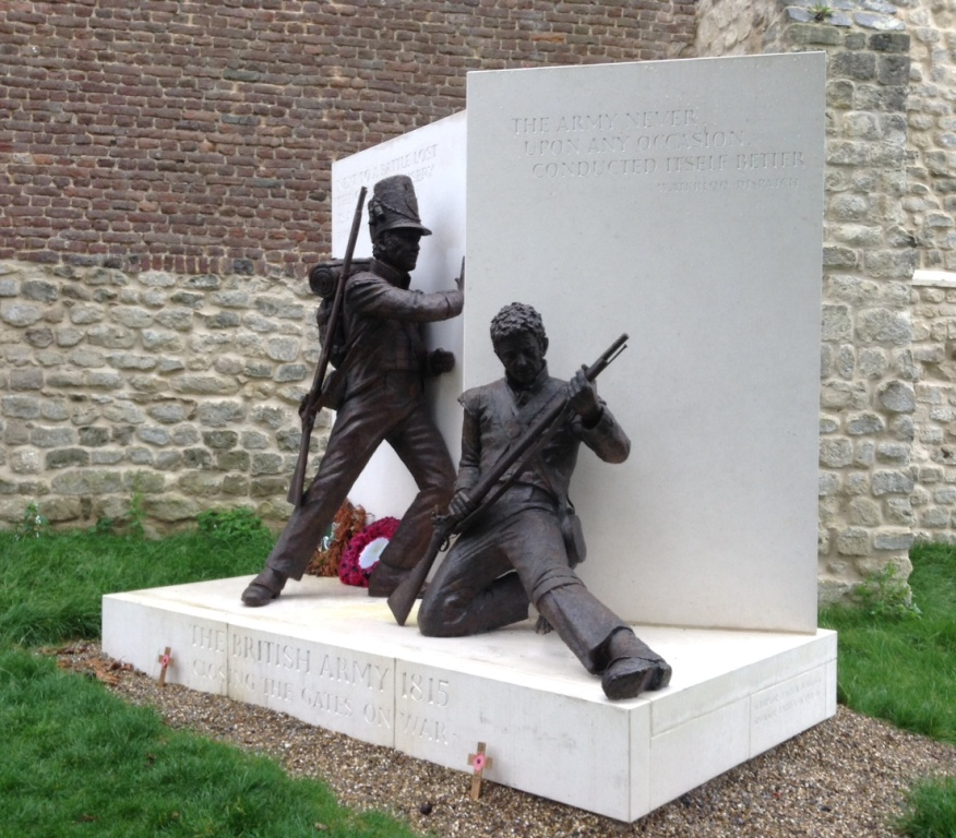 09 New memorial to British soldiers of Waterloo at Hougoumont