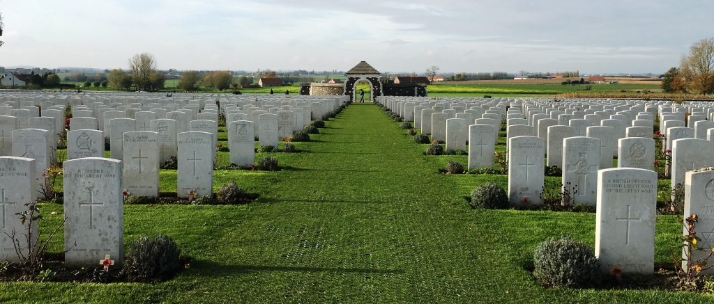 14 Tyne Cot Cemetery, resting place of 11,954 soldiers.