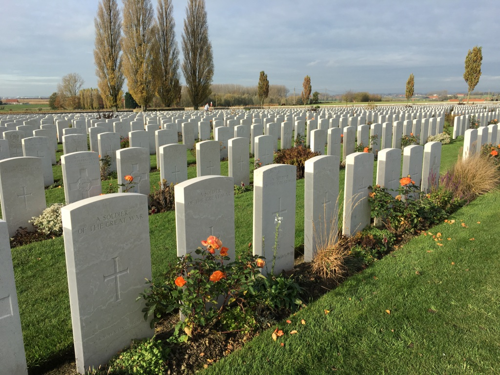15 Tyne Cot Cemetery the largest Commonwealth military cemetery in the world