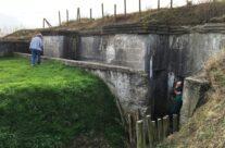 WW1 reinforced concrete German Command Post bunker at Zandvoorde – Armistice Remembrance Tour
