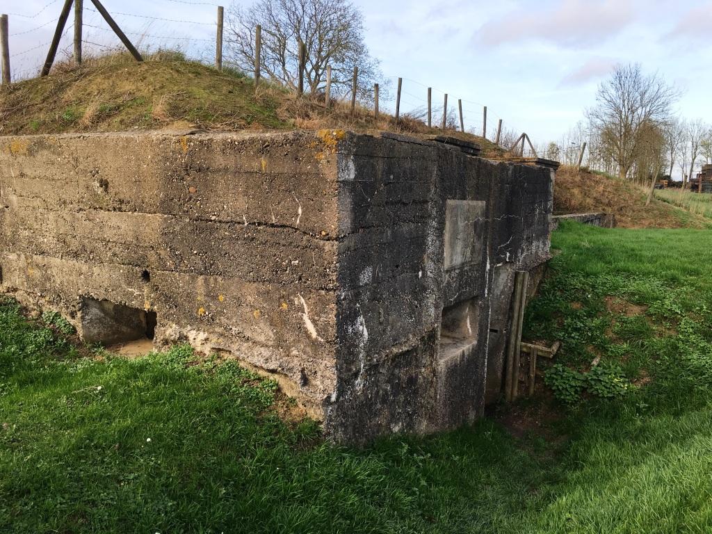 23 WW1 reinforced concrete German Command Post bunker at Zandvoorde