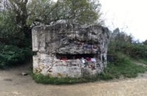 Concrete bunker remains at Hill 60 – Armistice Remembrance Tour