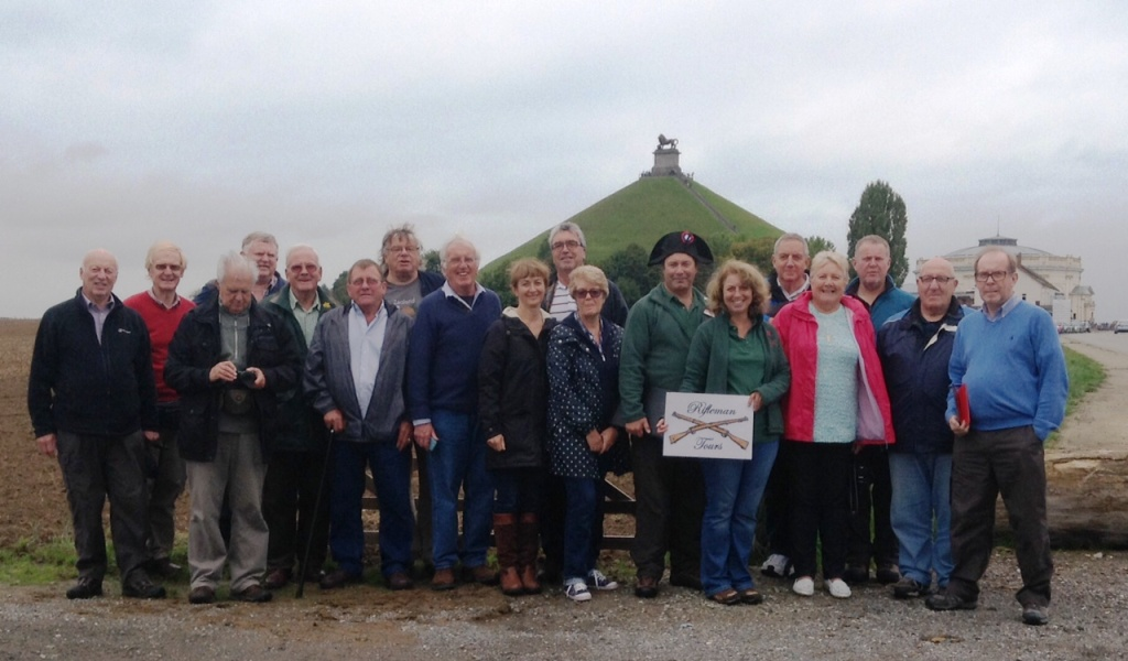 25 The group with the Lion Mound in background