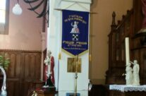 A Norfolk Standard hanging in Lestrem Church – Dunkirk 'Operation Dynamo' Battlefield Tour