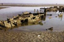 Wreck of the Devonia on Bray Dunes beach – Dunkirk Operation Dynamo Battlefield Tour