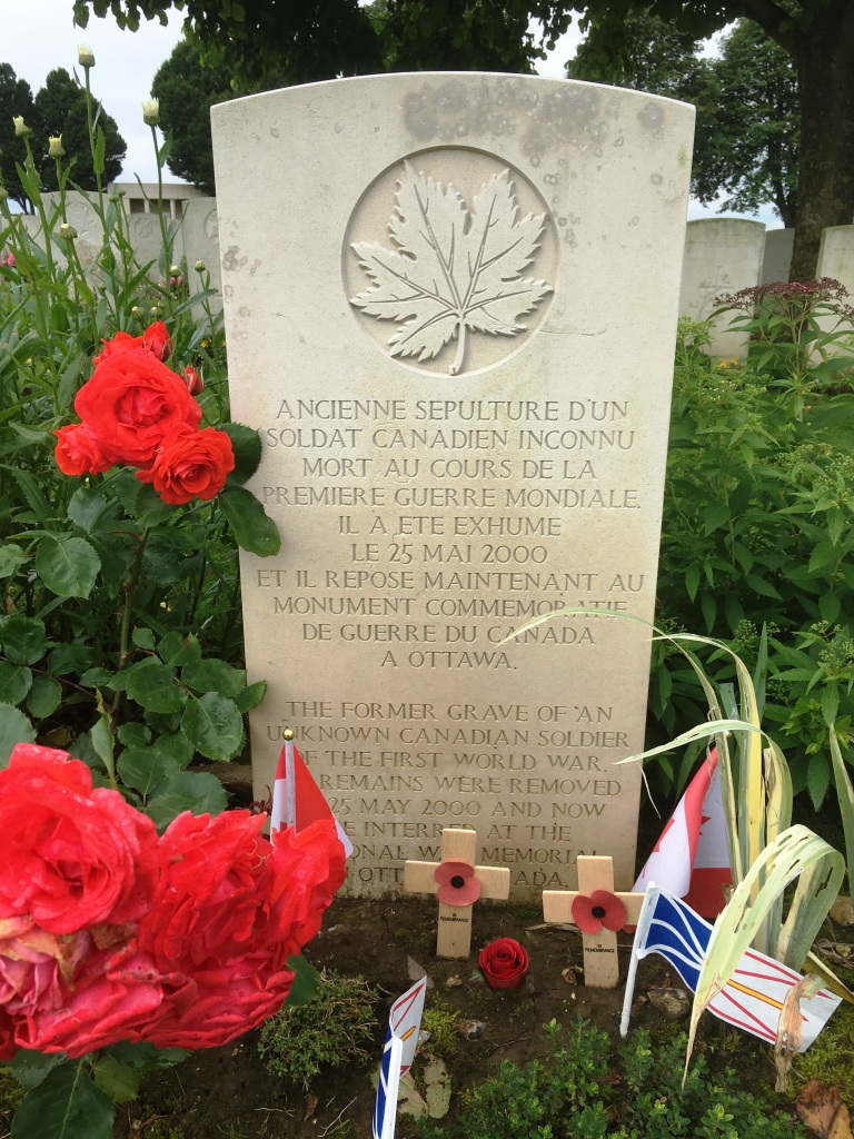 08 The Former Grave of the Unknown Canadian Soldier, Cabaret Rouge Cemetery