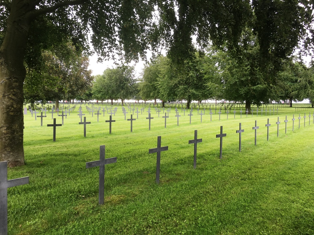 12 Neuville-Saint-Vaast German Cemetery, the largest German cemetery in france for World War One casulaties with 44,833 buried here.