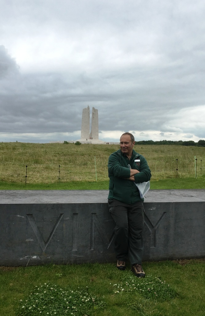 13 Tony at the Vimy Memorial