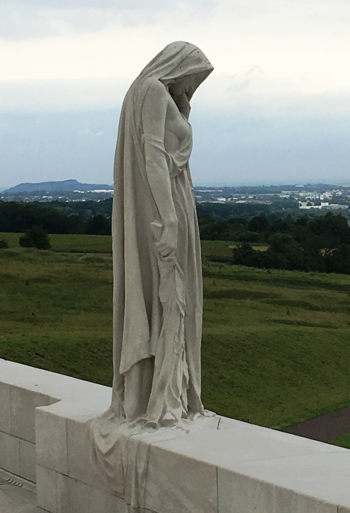 "14 The mourning figure of ""Mother Canada"" on the Canadian National Vimy Memorial"