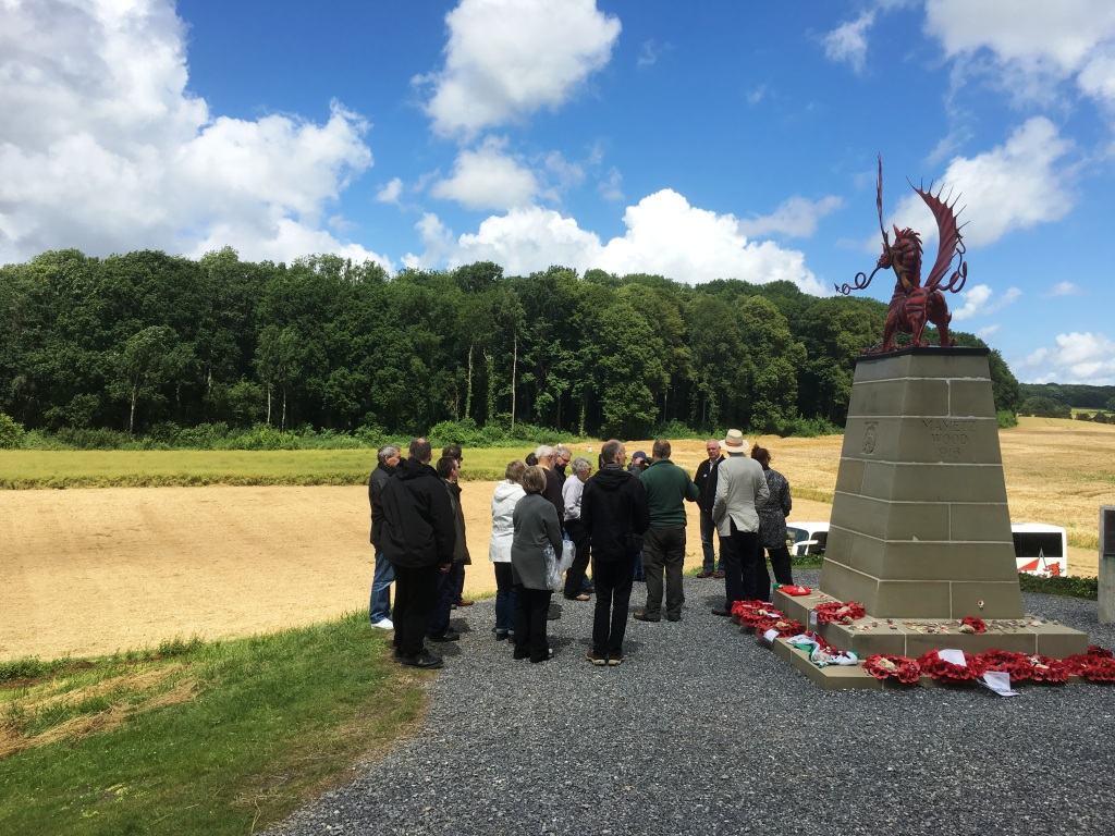 23 The Welsh dragon memorial overlooks the area where the 38th (Welsh) Division attacked Mametz Wood between 7-14 July 1916