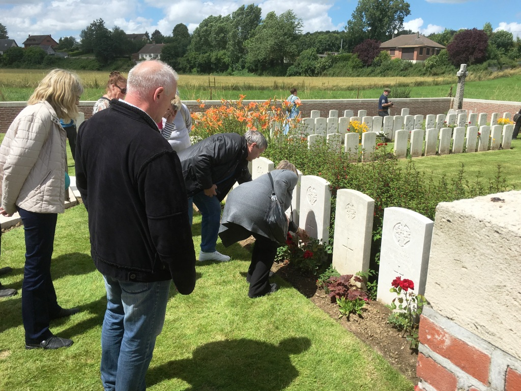 25 A visit to a relative's grave at Fricourt British Cemetery