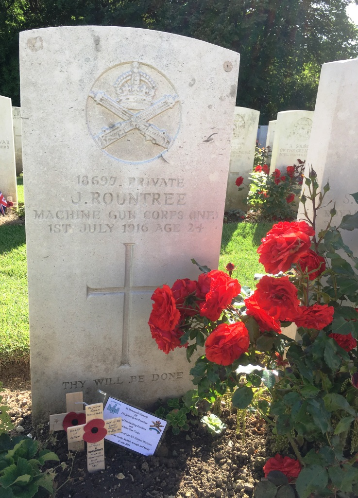 32 A personal visit to the grave of this young soldier in Connaught Cemetery, Thiepval