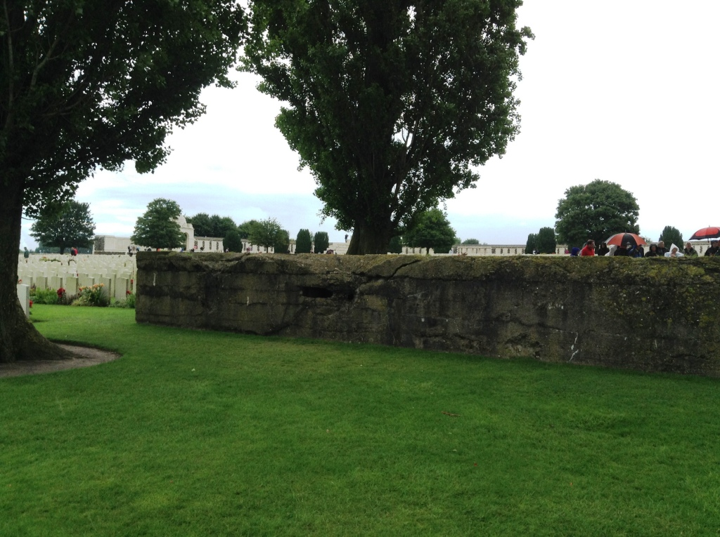 38  Tyne Cot Cemetery and one of the concrete German bunkers