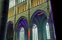 Inside St Martin's Cathedral, Ypres, people gather for the Great War Remembered Concert on Armistice Day organised by the Last Post Association – 2016 Armistice Day in Ypres and Battlefield Tour
