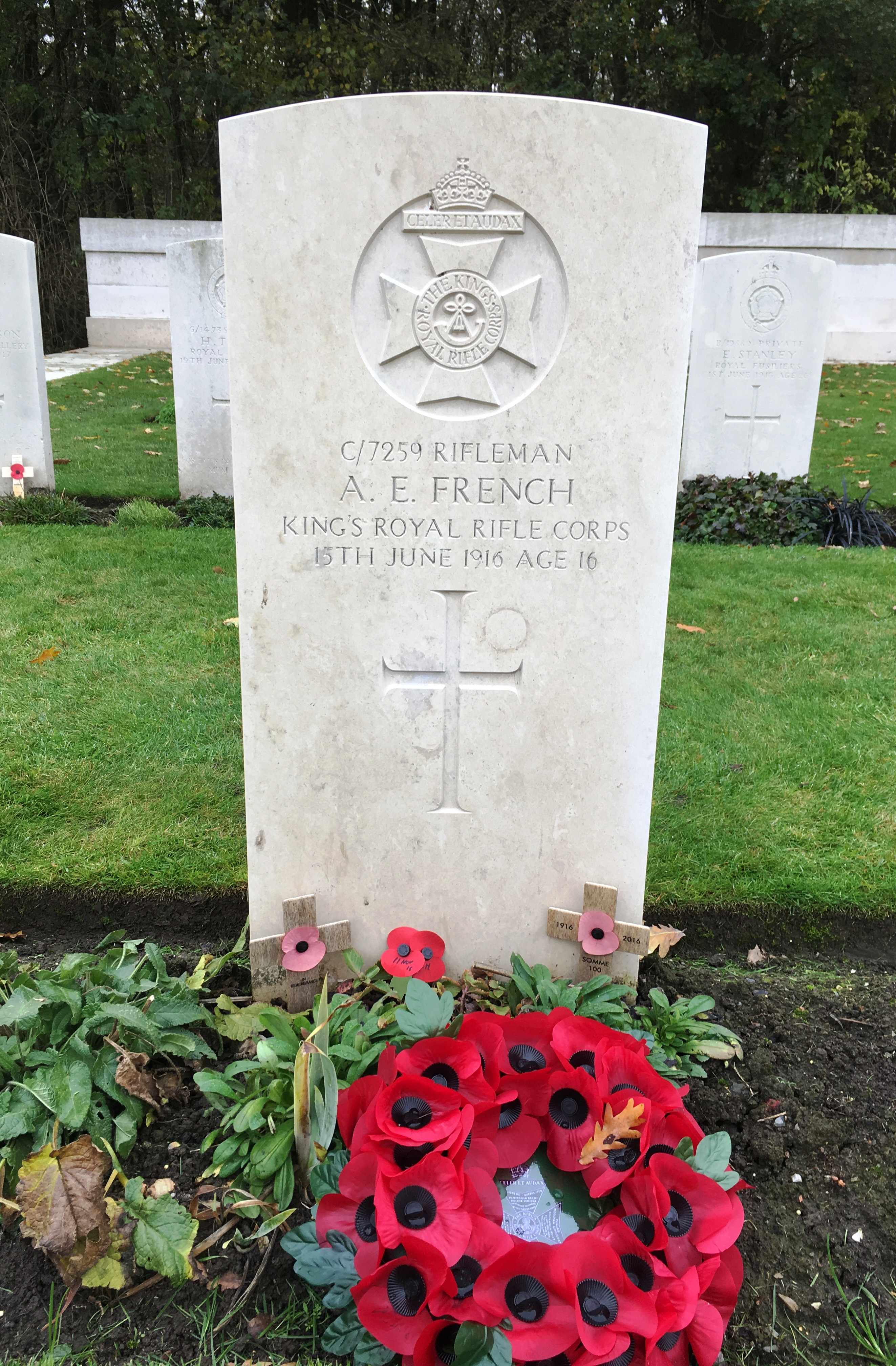 24-albert-french-only-16-years-of-age-buried-at-hyde-park-corner-royal-berks-cemetery-ypres-salient