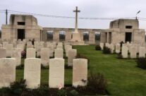 Passchendaele New British Cemetery, Ypres Salient. Next to Tyne Cot Cemetery, it has the largest concentration of Canadian dead – 2016 Armistice Day in Ypres and Battlefield Tour