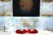 The bunker that lies beneath the Cross of Sacrifice at Tyne Cot, Ypres Salient – 2016 Armistice Day in Ypres and Battlefield Tour