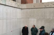The group at the Menin Gate, Ypres, near Harry Band's name (The Crucified Soldier) – 2016 Armistice Day in Ypres and Battlefield Tour