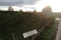 The lip of the Lochnagar Crater – Somme and Ypres Battlefield Tour