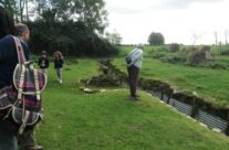 Lunch at Ocean Villas Tea Rooms with trenches in the back garden – Somme and Ypres Battlefield Tour
