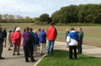 The group looking at the Hammerhead of Mametz Wood – Somme and Ypres Battlefield Tour