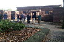 The group by the Comrades Grave at Langemark – Somme and Ypres Battlefield Tour