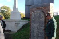 Two memorials – one to the 2nd Worcesters and other to the South Wales Borderers – Somme and Ypres Battlefield Tour
