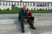 Tony and Olivia of Rifleman Tours at Tyne Cot Cemetery – Somme and Ypres Battlefield Tour