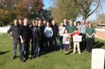 Traditional group shot at Lijssenthoek Military Cemetery – Somme and Ypres Battlefield Tour