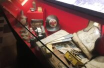 Display of a German medical bag at the In Flanders Field Museum, The Cloth Hall, Ypres – Messines Discovery Battlefield Tour