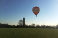 A hot air balloon close to the Peace Tower – Messines Discovery Battlefield Tour