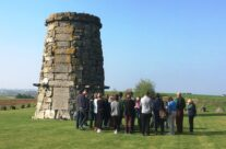 The group at the 9th Scottish Divisional Memorial – Arras 100 Anniversary Battlefield Tour