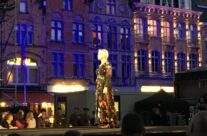 Helen Mirren performing at the remembrance concert at the Cloth Hall, Ypres – Passchendaele Anniversary Remembrance Battlefield Tour