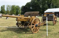 WW1 French 75 Cannon at the Passchendaele Museum – Passchendaele Anniversary Remembrance Battlefield Tour