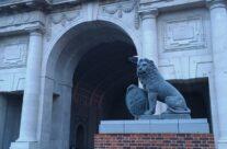 The Menin Gate Lions, Ypres – Passchendaele Anniversary Remembrance Battlefield Tour