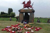 Welsh Dragon Memorial on Pilckem Ridge – Passchendaele Anniversary Remembrance Battlefield Tour