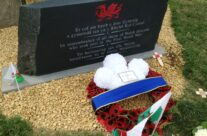 Wreath from the Prince of Wales at the Welsh Memorial on Pilckem Ridge – Passchendaele Anniversary Remembrance Battlefield Tour