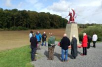 The Welsh Dragon Memorial at Mametz Wood, Somme and Ypres Battlefield Tour