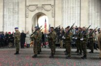 At the end of the Remembrance Ceremony at the Menin Gate – Armistice in Ypres and Passchendaele 100 Anniversary Battlefield Tour